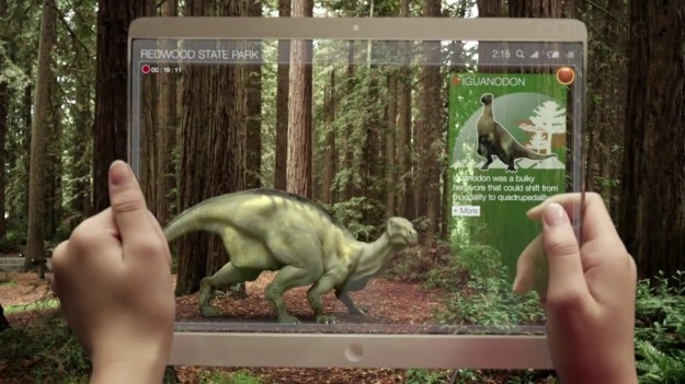 Augmented reality on tablet computer